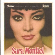 Cine: PROGRAMA NOCHES DE CASABLANCA – SARA MONTIEL. Lote 47470635