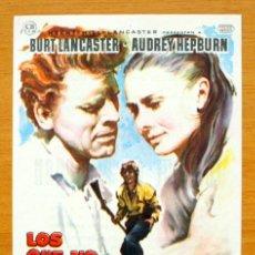 Cine: LOS QUE NO PERDONAN - BURT LANCASTER, AUDREY HEPBURN - CON PUBLICIDAD. Lote 177779482