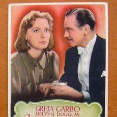 Cine: NINOTCHKA - GRETA GARBO - MELVYN DOUGLAS - CON PUBLICIDAD. Lote 12859637