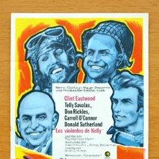 Flyers Publicitaires de films Anciens: LOS VIOLENTOS DE KELLY - CLINT EASTWOOD, TELLY SAVALAS, DON RICKLES, CARROLL O´CONNOR. Lote 47483461