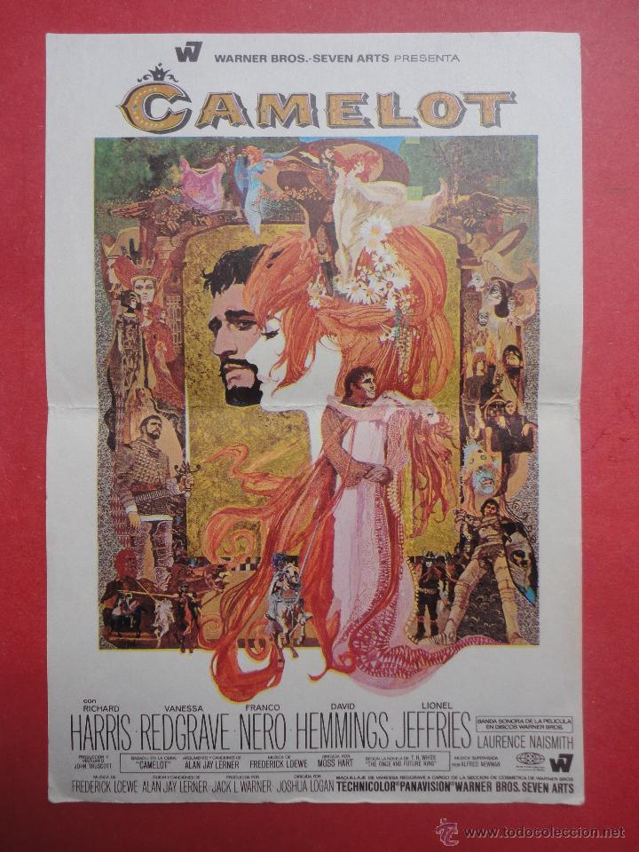 CAMELOT. RICHARD HARRIS (Cine - Folletos de Mano - Musicales)