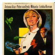 Cine: COMANDO DE ASESINOS 1967 (FOLLETO DE MANO ORIGINAL) ANTONIO VILAR - MIKAELA - LETITIA ROMAN. Lote 277624238