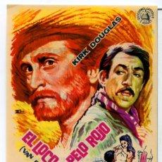Cine: EL LOCO DEL PELO ROJO 1956 (FOLLETO DE MANO ORIGINAL CON PUBLICIDAD CINE GRAN CINEMA GASTEIZ). Lote 103744872