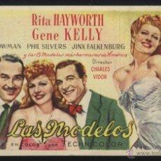 Cine: P-5035- LAS MODELOS (TEATRO BERGIDUM - PONFERRADA) (RITA HAYWORTH - GENE KELLY - PHIL SILVERS). Lote 47490260
