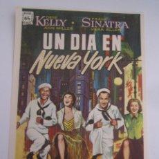 Cine: UN DIA EN NUEVA YORK FRANK SINATRA GENE KELLY ANN MILLER - FOLLETO DE MANO ORIGINAL ESTRENO. Lote 47518996