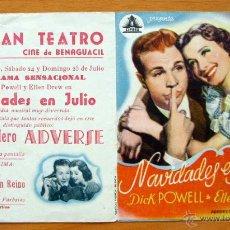 Cine: NAVIDADES EN JULIO - DICK POWELL, ELLEN DREW - CON PUBLICIDAD. Lote 47549354