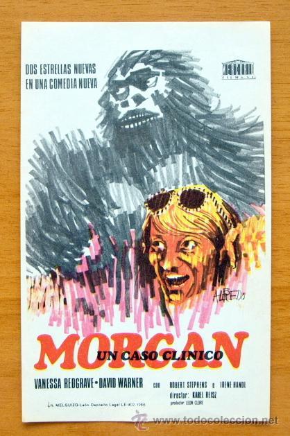 MORGAN UN CASO CLINICO - VANESSA REDGRAVE, DAVID WARNER (Cine - Folletos de Mano - Comedia)
