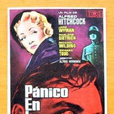 Pánico en la escena ( Alfred Hitchcock ) - Jane Wyman, Marlene Dietrich - con publicidad
