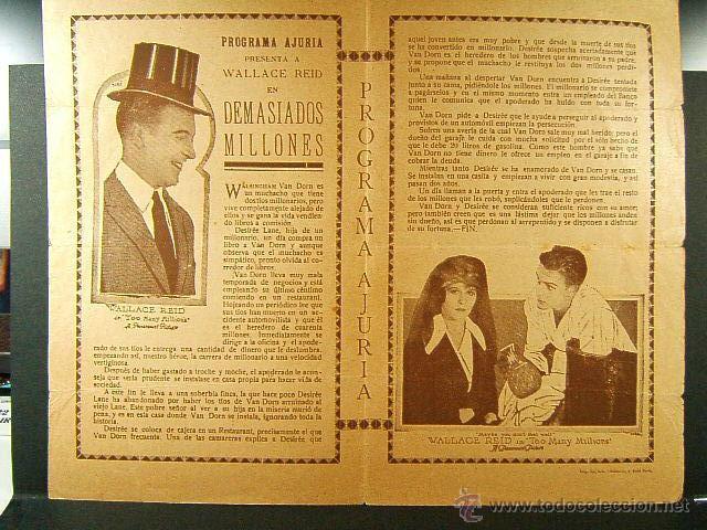 Cine: DEMASIADOS MILLONES-TOO MANY MILLIONS-J.CRUZE-WALLACE REID-ORA CAREW-OBRA RARISIMA-ESTRENO-1921-MUDA - Foto 2 - 47610024
