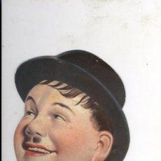 Cine: OLIVER HARDY. ANTIGUO PAY PAY ANIS TARONJA CALDES DE MONTBUI. DESTILERIAS LA VALLESANA HACIA 1930. Lote 47645933