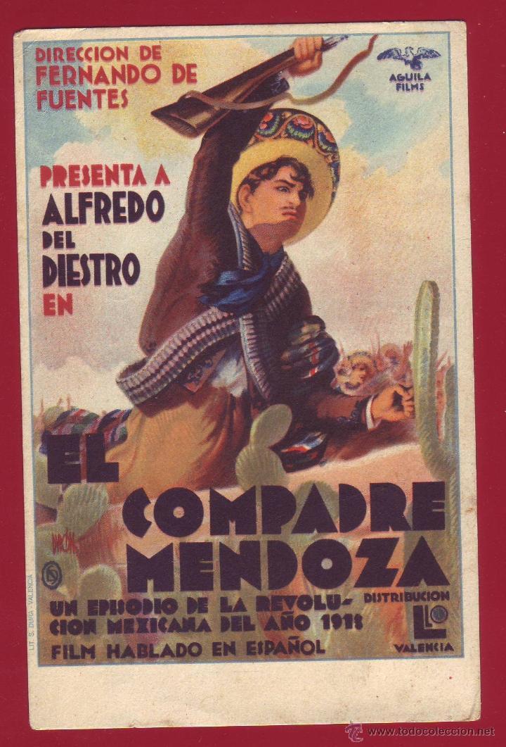 PROGRAMA DE MANO - COMPADRE MENDOZA (Cine - Folletos de Mano - Comedia)