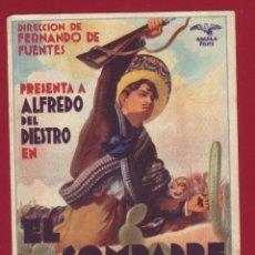 Cine: PROGRAMA DE MANO - COMPADRE MENDOZA. Lote 47649270
