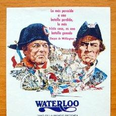 Cine: WATERLOO - ROD STEIGER, CHRISTOPHER PLUMMER Y ORSON WELLES, JACK HAWKINS. Lote 11144069