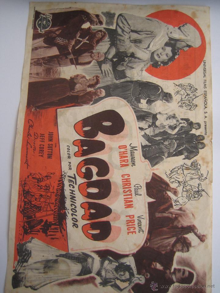 BAGDAD FOLLETO DE MANO ORIGINAL ESTRENO CON CINE IMPRESO (Cine - Folletos de Mano - Drama)