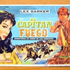 Cine: EL CAPITÁN FUEGO - LEX BARKER - PUBLICIDAD CINE CAPITOL, TARRAGONA. Lote 11770698