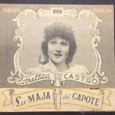 Cine: LA MAJA DEL CAPOTE. ESTRELLITA CASTRO.. Lote 47774759