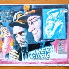 Cine: PRIMERA VICTORIA - JOHN WAYNE, KIRK DOUGLAS, PATRICIA NEAL - CON PUBLICIDAD. Lote 47791408