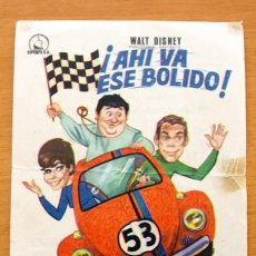 Cine: AHI VA ESE BOLIDO - WALT DISNEY - DEAN JONES, MICHELE LEE - PUBLICIDAD CINE ALBORADA, ALBORAYA. Lote 10857539