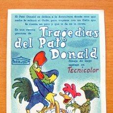 Cine: TRAGEDIAS DEL PATO DONALD - WALT DISNEY - ARAJOL - DIBUJOS ANIMADOS. Lote 11076667