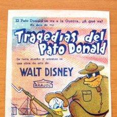 Cine: TRAGEDIAS DEL PATO DONALD - WALT DISNEY - ARAJOL - DIBUJOS ANIMADOS - CON PUBLICIDAD. Lote 11119055