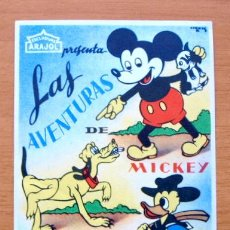 Cine: LAS AVENTURAS DE MICKEY, PLUTO Y PATO DONALD - WALT DISNEY - CON PUBLICIDAD. Lote 11406553