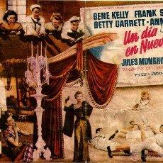 Cine: DIPTICO - UN DIA EN NUEVA YORK - GENE KELLY - FRANK SINATRA - BETTY GARRETT - ANN MILLER VERA ELLEN. Lote 47821670