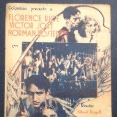 Cine: FUGITIVOS DE LA ISLA DEL DIABLO. FLORENCE RICE. VICTOR JORY. NORMAN FOSTER.. Lote 47847930