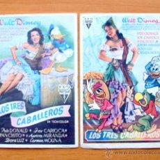 Cine: LOS TRES CABALLEROS - WALT DISNEY - DIBUJOS ANIMADOS - CON PUBLICIDAD. Lote 47849000