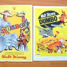 Cine: DUMBO - WALT DISNEY - DIBUJOS ANIMADOS - CON PUBLICIDAD. Lote 47849114