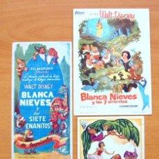 Cine: BLANCA NIEVES Y LOS SIETE ENANITOS - WALT DISNEY - DIBUJOS ANIMADOS - CON PUBLICIDAD. Lote 47851094