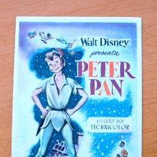 Cine: PETER PAN - WALT DISNEY - DIBUJOS ANIMADOS - CON PUBLICIDAD. Lote 47854136
