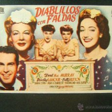 Cine: DIABLILLOS CON FALDAS-GEORGE MARSHALL-FRED MAC MURRAY-DOROTHY LAMOUR-BETTY HUTTON-(1944). Lote 47855001