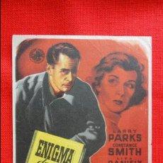 Cine: ENIGMA DE UN DIARIO, SENCILLO 1957 EXCTE. ESTADO, LARRY PARKS CONSTANCE SMITH, PUBLIC BARTRINA REUS. Lote 47870379
