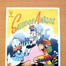Cine: SALUDOS AMIGOS - WALT DISNEY - DIBUJOS ANIMADOS - CON PUBLICIDAD. Lote 47888365