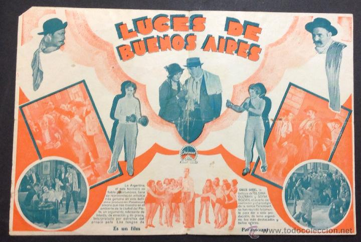 Cine: LUCES DE BUENOS AIRES. CARLOS GARDEL. GLORIA GUZMAN. CINEMA CENTRE FRATERNAL. - Foto 2 - 47892029