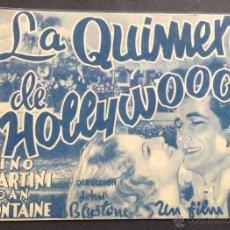 Cine: LA QUIMERA DE HOLLYWOOD. NINO MARTINI. JOAN FONTAINE. BORN.. Lote 47893835