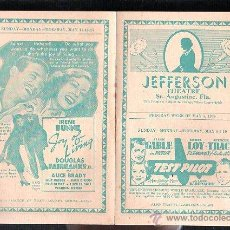 Cine: PROGRAMA DE MANO SEMANAL. 1938. CLARK GABLE, MYRNA LOY, SPENCER TRACY, JOHN BARRYMORE. Lote 47912345