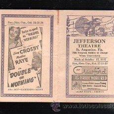 Cine: PROGRAMA DE MANO SEMANAL. 1937. JOAN CRAWFORD, ROBERT YOUNG, BRUCE CABOT, JEAN CHATBURN. Lote 47913690
