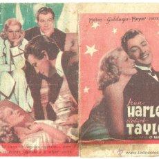 Cine: DIPTICO - JUGANDO A LA MISMA CARTA - ROBERT TAYLOR - JEAN HARLOW - DORSO CINE FALANGE. Lote 7243106