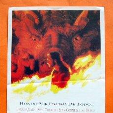Cine: FOLLETO DE MANO - DRAGON HEART - DENNIS QUAID, DAVID THEWLIS -. Lote 47929297