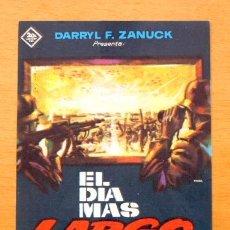 Cine: EL DIA MAS LARGO - JOHN WAYNE, ROBERT MITCHUM, HENRY FONDA - PUBLICIDAD CINE PRINCIPAL, CALLOSA. Lote 11648373