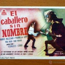 Cine: EL CABALLERO SIN NOMBRE - AMADEO NAZZARI, MARIELLA LOTTI. Lote 18044158