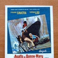 Cine: ASALTO AL QUEEN-MARY - FRANK SINATRA, VIRNA LISI - PUBLICIDAD TEATRO REGIO, YECLA. Lote 11984434