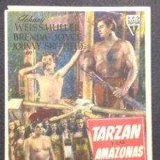 Cine: TARZAN Y LAS AMAZONAS. JOHNNY WEISSMULLER. BRENDA JOYCE. JOHNNY SHEFFIELD.. Lote 47970170