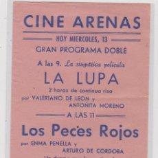 Cine: PROGRAMA CINE LOCAL--LA LUPA. Lote 48023118