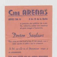 Cine: PROGRAMA CINE LOCAL--DOCTOR SANDURS. Lote 48023541