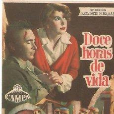 Cine: DOCE HORAS DE VIDA - SENCILLO - CINEMA GOYA. Lote 48052321