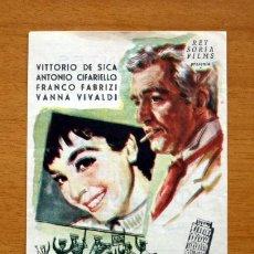 Cine: ADIOS JUVENTUD - VITTORIO DE SICA, ANTONIO CIFARIELLO - CON PUBLICIDAD. Lote 48101371
