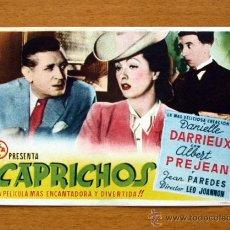 Cine: CAPRICHOS - DANIELLE DARRIEUX, ALBERT PREJEAN - CON PUBLICIDAD. Lote 48112296