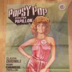 Cine: POPSY POP CONTRA PAPILLON-CARTEL ORIGINAL DE CINE. Lote 48113211